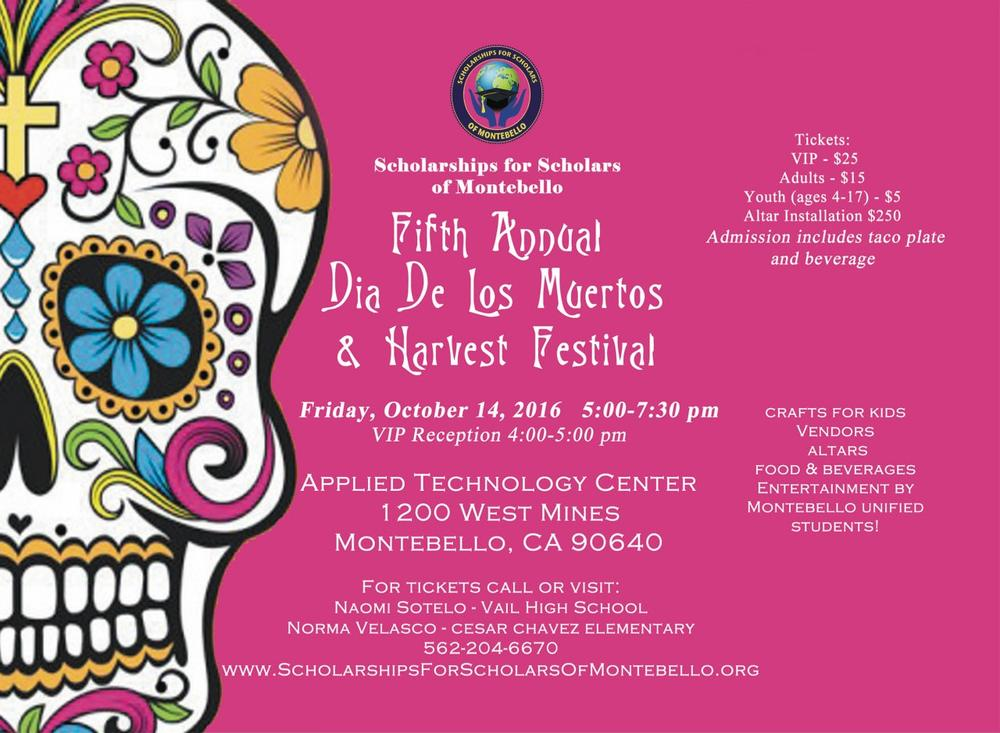 Scholarships for Scholars of Montebello Dia De Los Muertos 2016 Oct 14 2016.jpg